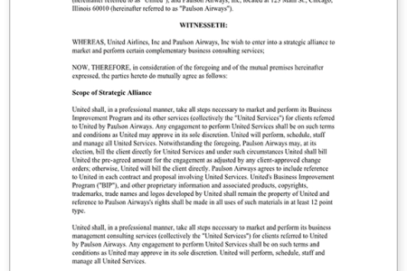 Alliance Agreement Sample Image Collections Agreement Letter Format