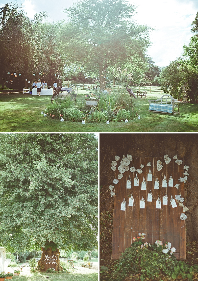 A Secret Garden Party Style Wedding In Peterborough With A Lace Pronovias Dress