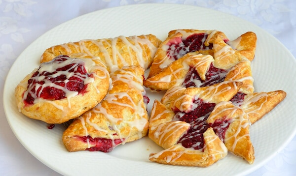 Danish Pastry - an easy dough to make Fruit Danish and more.