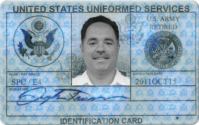 Id Requirements Military Retired Card