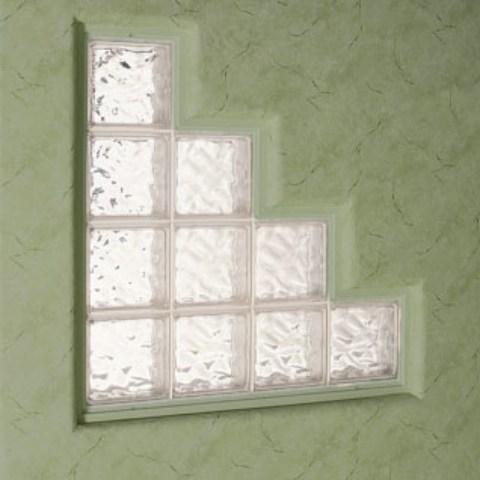 Glass Block Windows Utah Rocky Mountain Windows Doors   Staircase Window Glass Design   Geometric   Architecture   Flower   Residential   Glass Brick