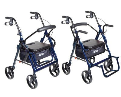 Drive Medical Duet Transport Wheelchair Rollator Walker