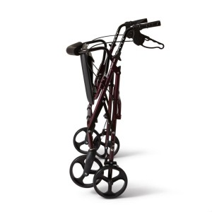 Medline Bariatric Rollator Walker,Seat 400 lb Capacity Folded View
