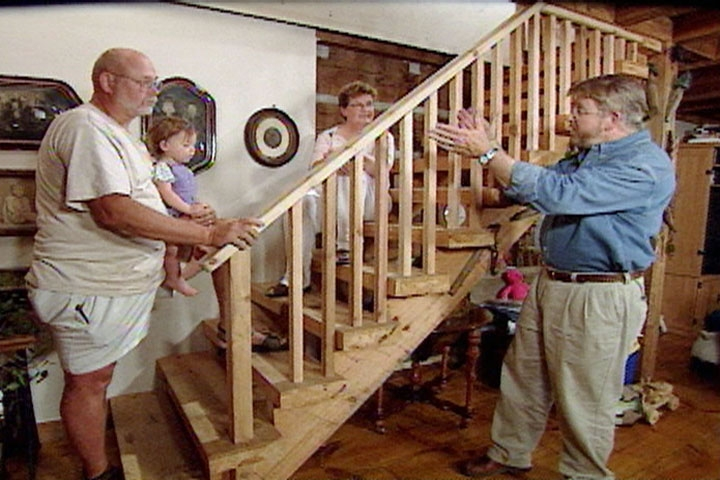 How To Build A Stair Railing With A Rustic Look • Ron Hazelton | Rustic Handrails For Stairs | Modern | Country Style | Antique Wooden Stair | Basement | Interior