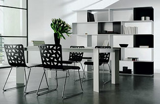 Black and White Decorating Ideas      Room Decorating Ideas black and white dining room idea