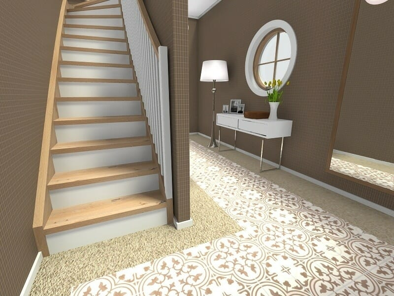 Roomsketcher Blog Visualize Your Staircase Design Online | Simple Staircase Designs For Homes | Kitchen | Interior | Tiny | Simple 2Nd Floor House | Space Saving