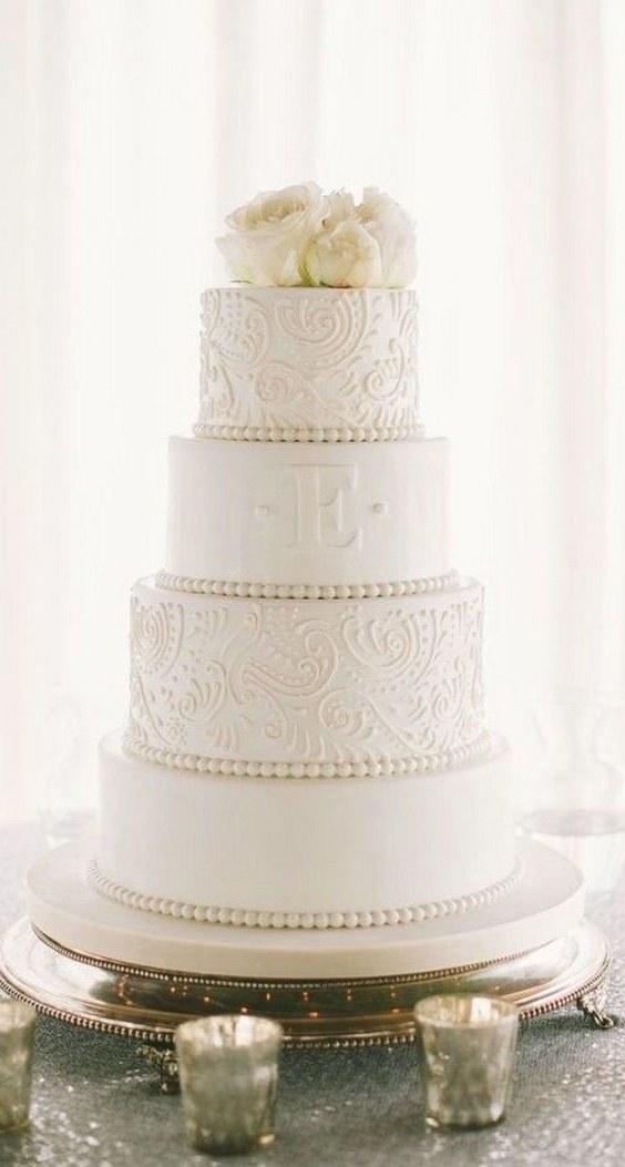 20 Elegant Vintage Buttercream Wedding Cakes Roses