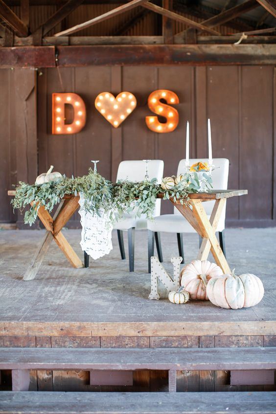 20 Fall Wedding Reception Sweetheart Table Ideas Roses Amp Rings Part 2