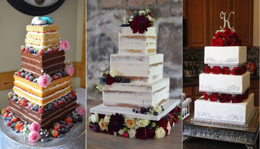 Top 20 Square Wedding Cakes That Wow   Roses   Rings vintage classic square wedding cakes
