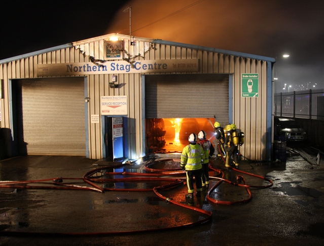 Cars Destroyed In Garage Repair Centre Fire