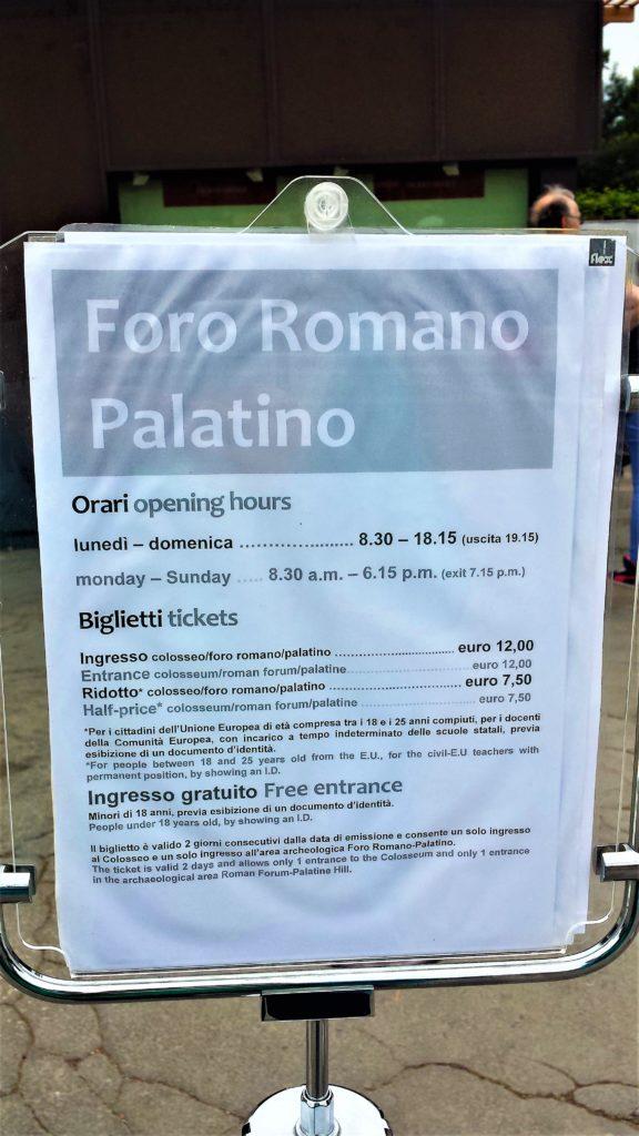 Entrance fee, Roman Forum, Rome, Italy | Round the World ...