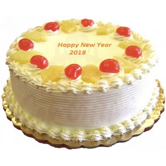 Pineapple Cherry New Year Cake Delivery in Delhi   Chocolate Cake      27  Pineapple Cherry New Year Cake