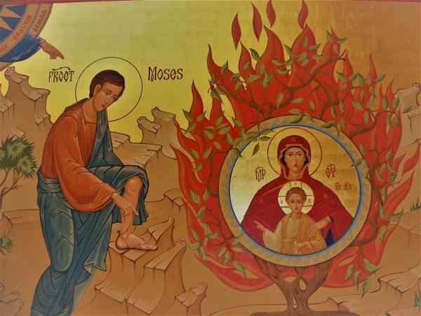 burning bush church fathers # 20