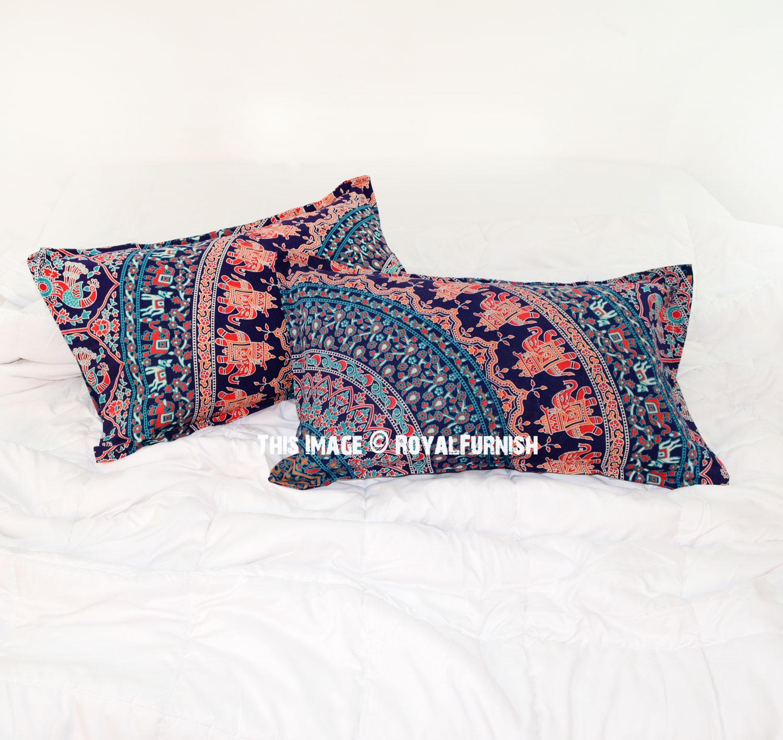 Decorative Blue Elephant Amp Birds Bohemian Mandala Bed