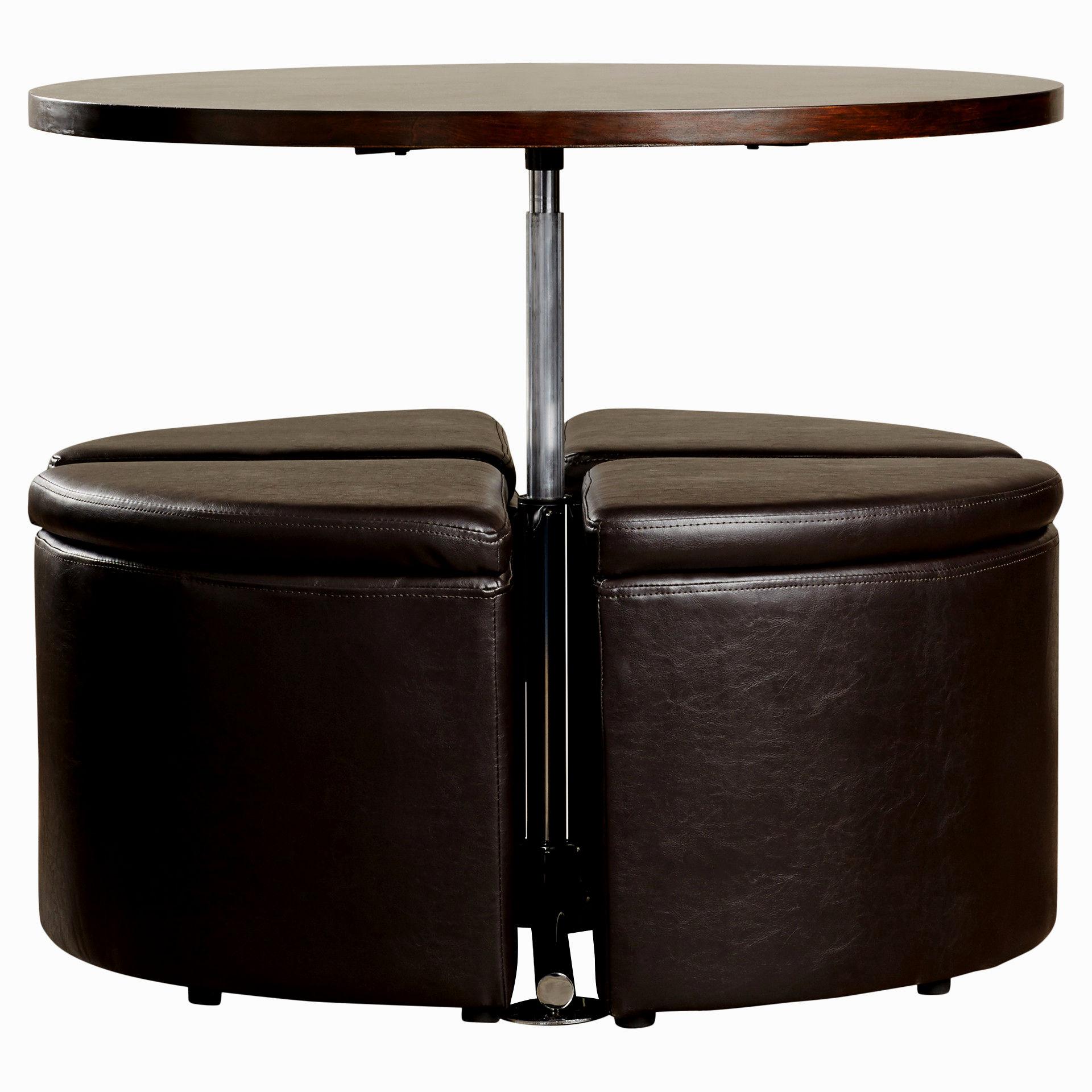 Round Dark Wood Coffee Table