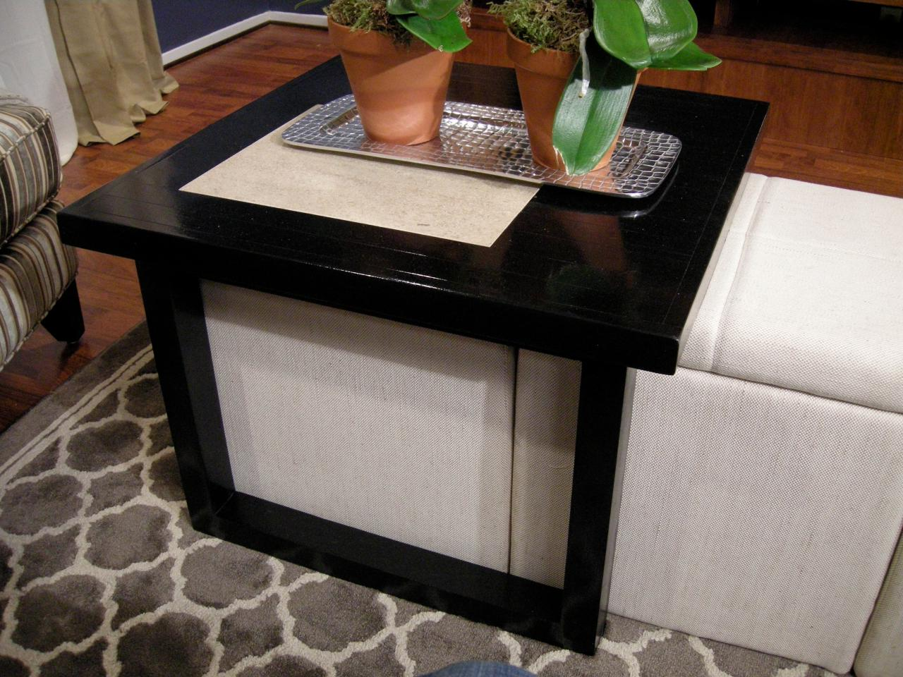 Coffee Table Ottoman Stools