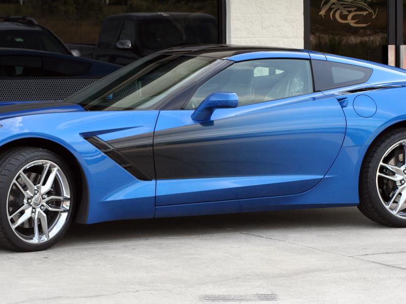 C7 Corvette Sport Fade Side Stripes Graphic Rpidesigns Com