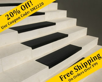 Non Slip Stair Treads Rubber Cal Rubber Mats And Flooring | Anti Slip Carpet For Stairs | Slip Resistant | Indoor Stair | Skid Resistant | Self Adhesive | Bullnose Carpet