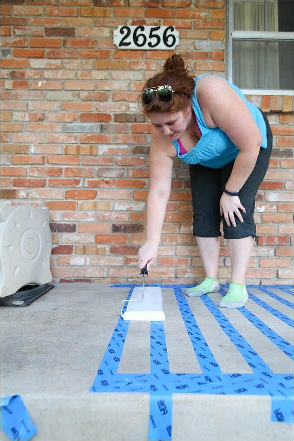 How To Paint Concrete—A Patio Makeover Run To Radiance | Painting Outside Concrete Steps