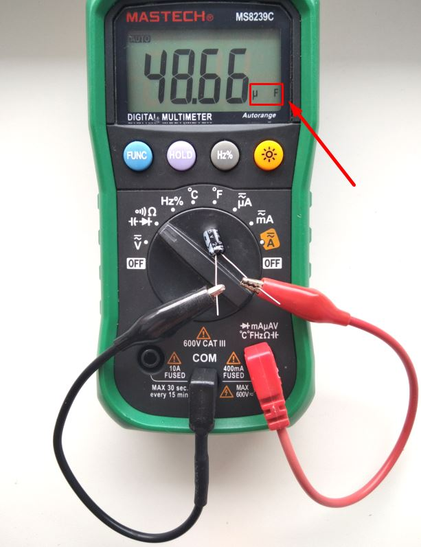 Mérési kondenzátor kapacitás