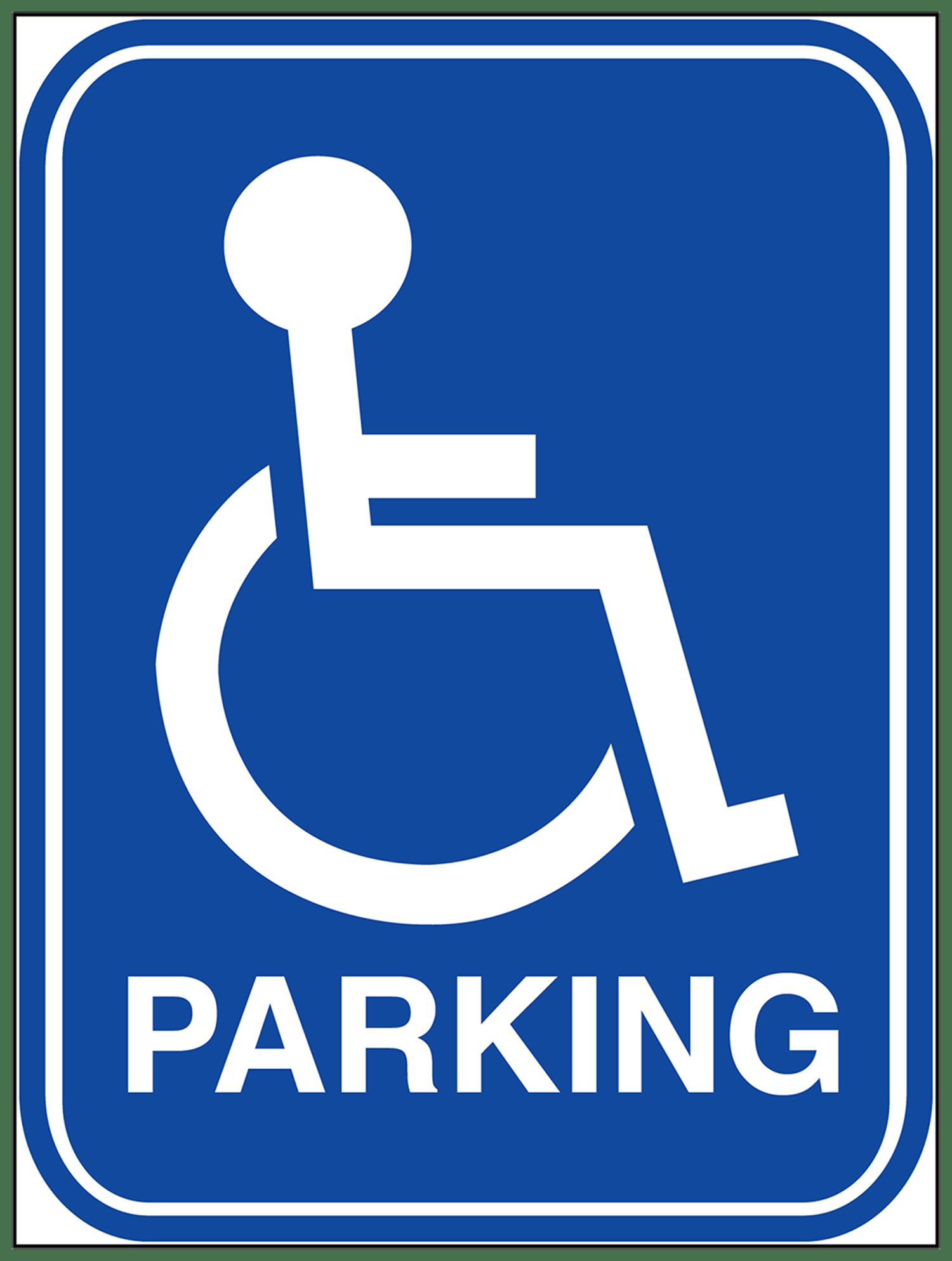 Handicap Parking Sign Car