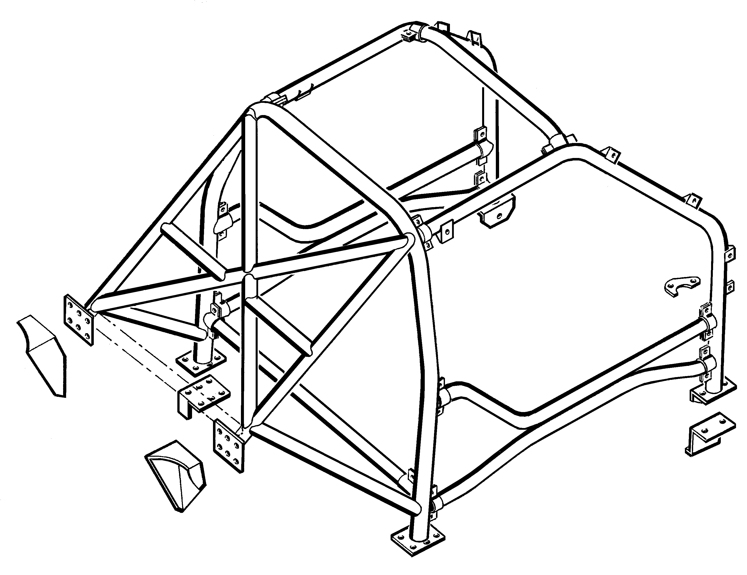 Land rover freelander 1 multi point bolt in roll cage