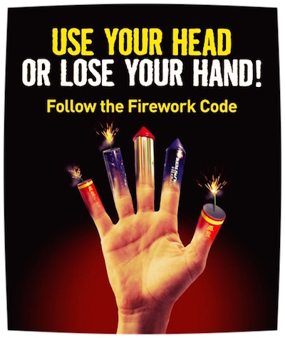 With Fireworks Use Your Head Or Lose Your Hand Osha