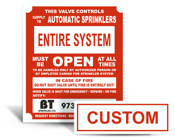 Emergency Shut Valve Placards