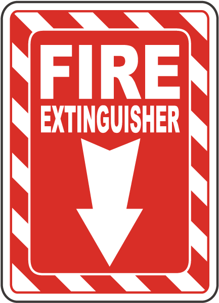 Fire Extinguisher Sign A5036 - by SafetySign.com