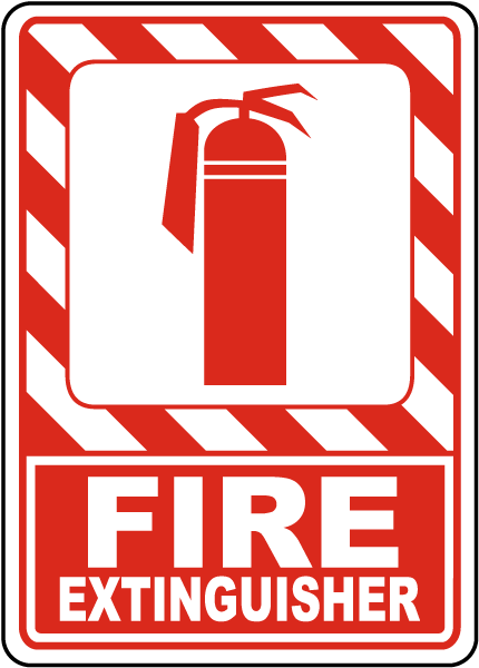 Fire Extinguisher Sign A5038 - by SafetySign.com
