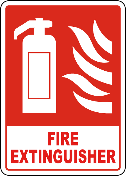 Fire Extinguisher Sign A5313 - by SafetySign.com