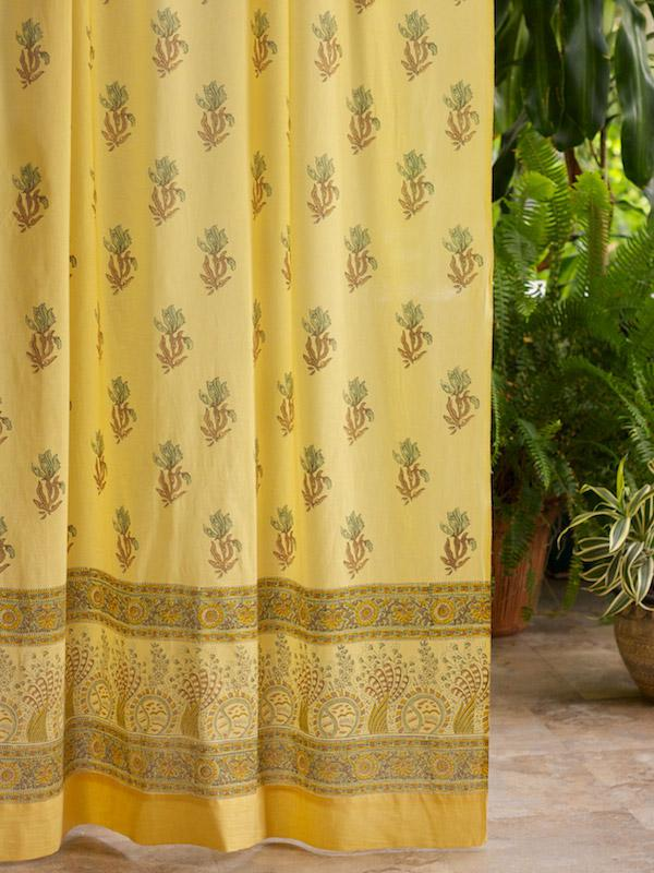 Curtains Kitchen Green And Yellow