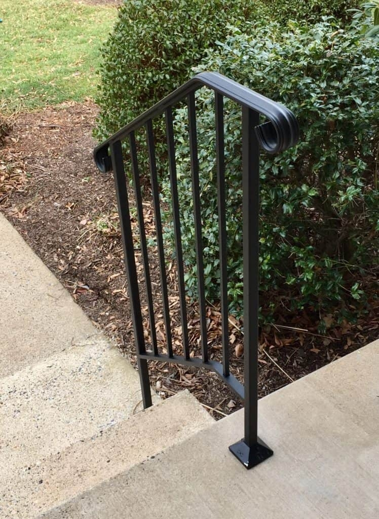 Outdoor Handicap Handrails Outdoor Solutions Sage Mobility | Steel Handrails For Outdoor Steps | Tubular Steel | Steel Handrail Style Kerala Staircase | Stainless | Commercial | Residential
