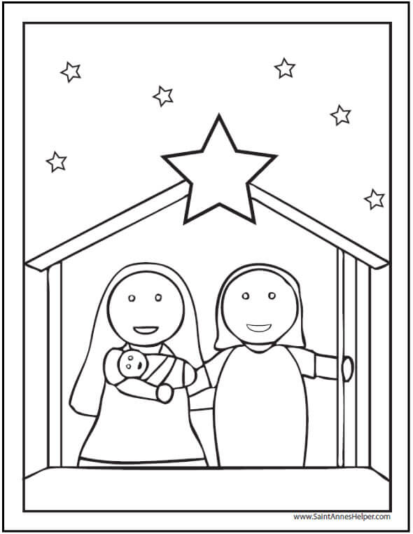 preschool christmas coloring pages # 12