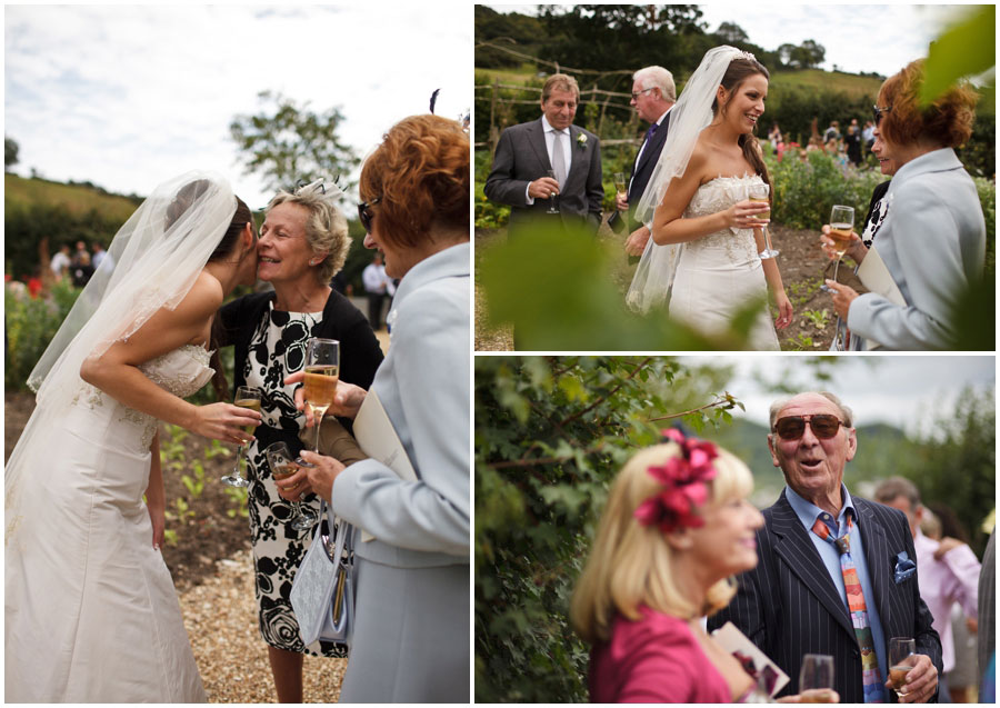 River Cottage Wedding Photography bride with guests