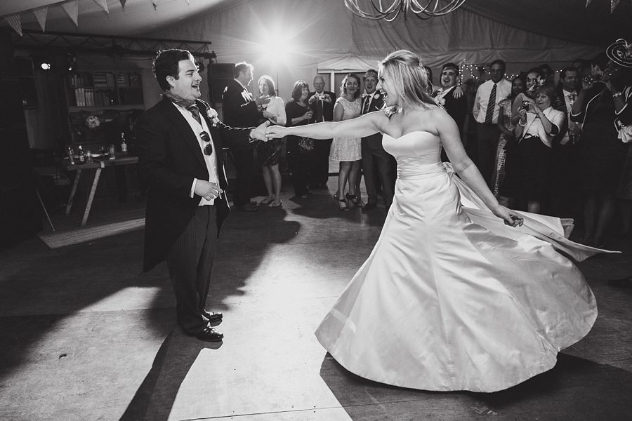 wedding first dance at larmer tree gardens