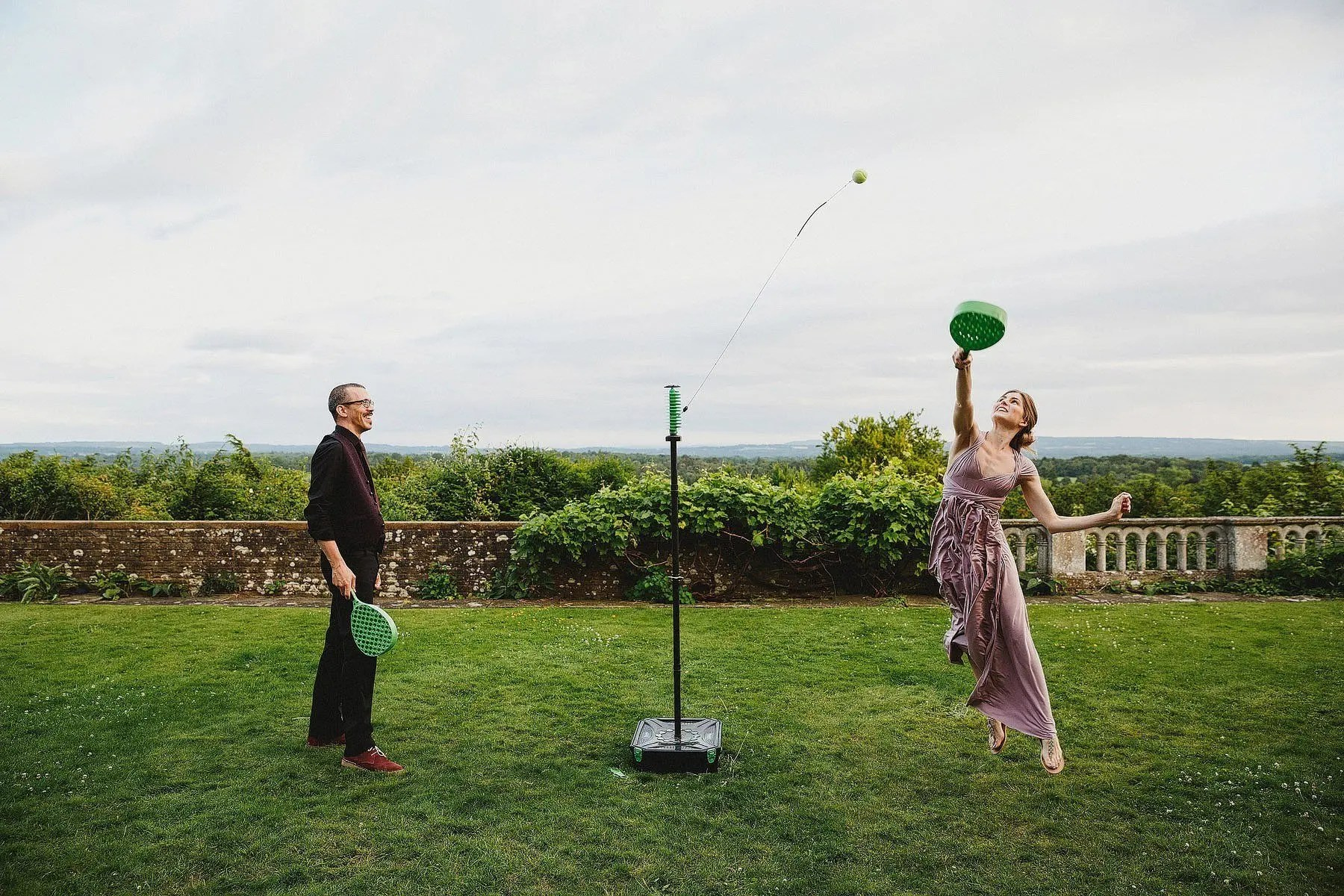 swingball at a wedding