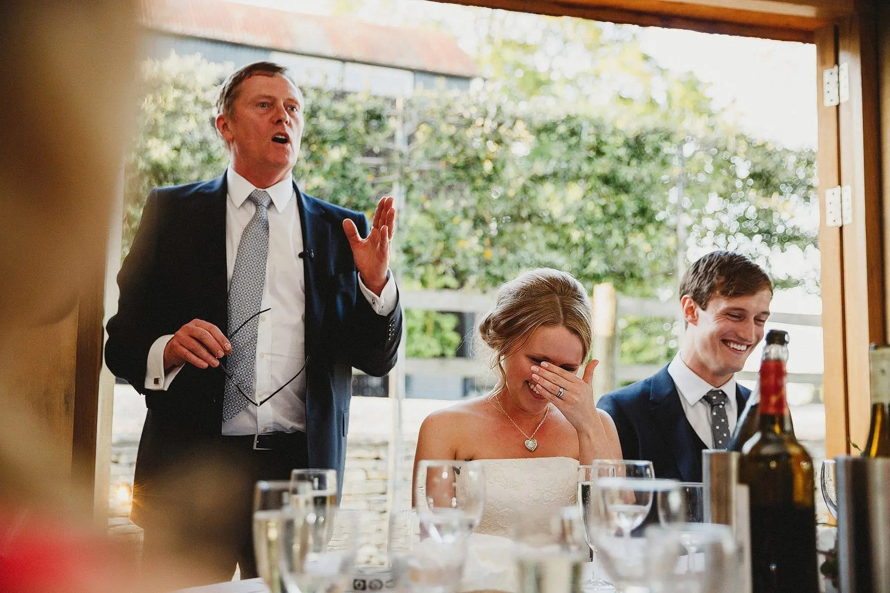 speeches at cripps barn wedding