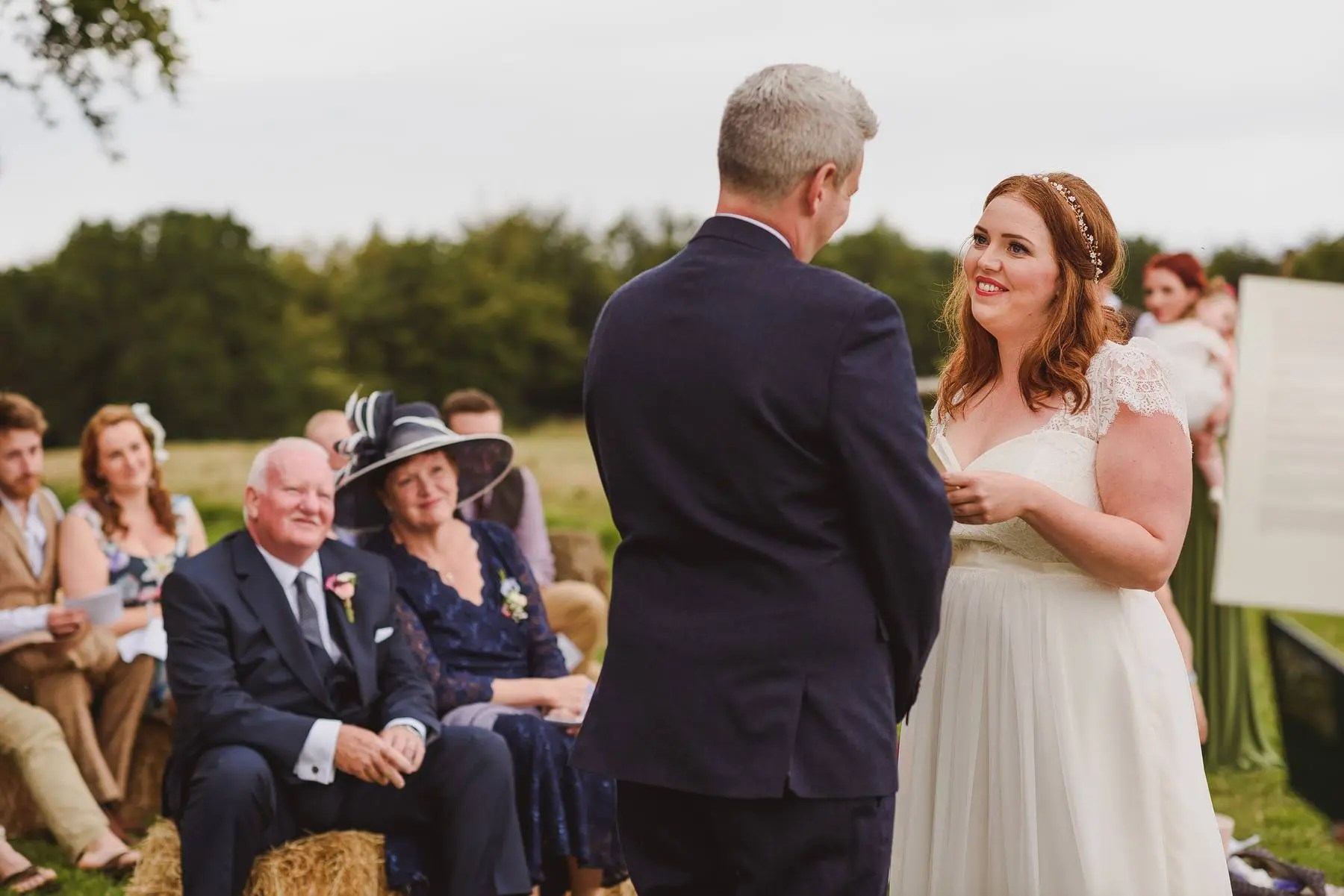 wedding ceremony at huntstile organic farm stone circle