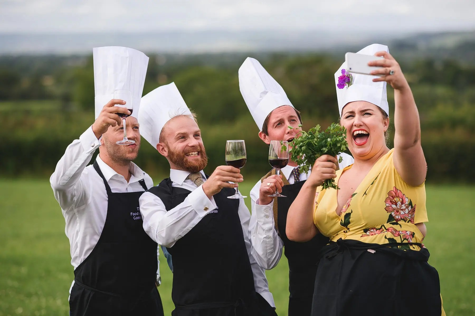 chefs at a wedding