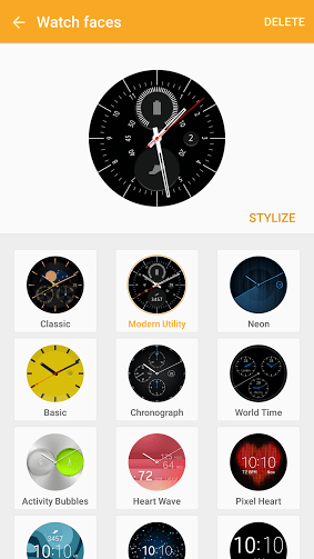 Create a stylized watch face for the Samsung Gear S2 ...