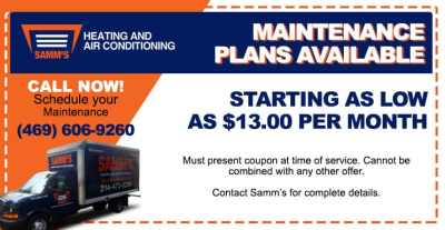 Air Conditioning & Heating Specials | HVAC Coupons | Plano, TX