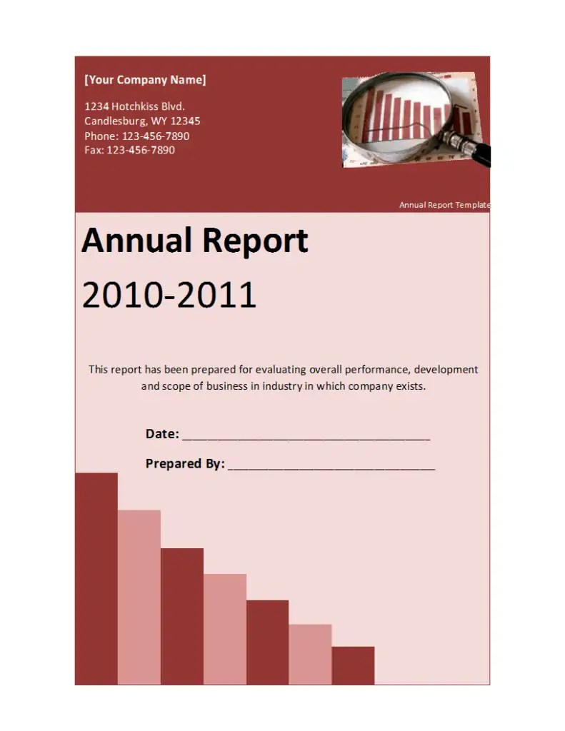 Annual Report Template - Free Formats Excel Word