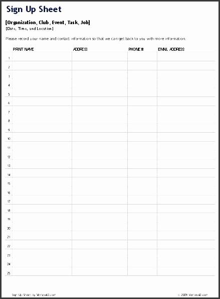 Top 25 Prospect Sheet Template