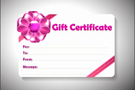 7 Gift Certificate Template Free Word   SampleTemplatess     Microsoft Word Template printable t voucher