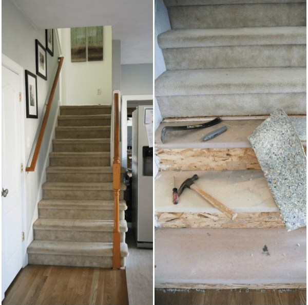 Painted Staircase Makeover With Seagrass Stair Runner | Seagrass Carpet On Stairs | Gray Wood | Hard Wearing | Grey | Stair Malay Chen Sisal | 80 20 Wool Carpet Stair