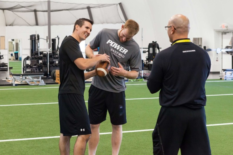 Bismarck Center   Sanford POWER  Sports   Athletic Training Sanford         free weights  and sports specific equipment  including synthetic turf   make our facility the ideal location for athletic and performance training