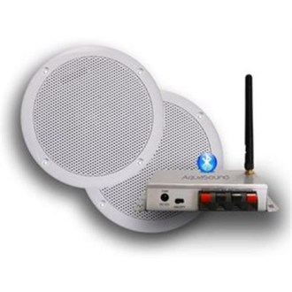 Badkamerradio Aquasound bluetooth 50w music center met bolero speakerset zwart BMC50EASY