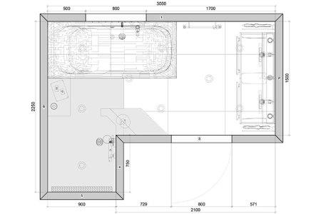 Idées de Cuisine » voorbeeld badkamer plattegrond | Idées Cuisine