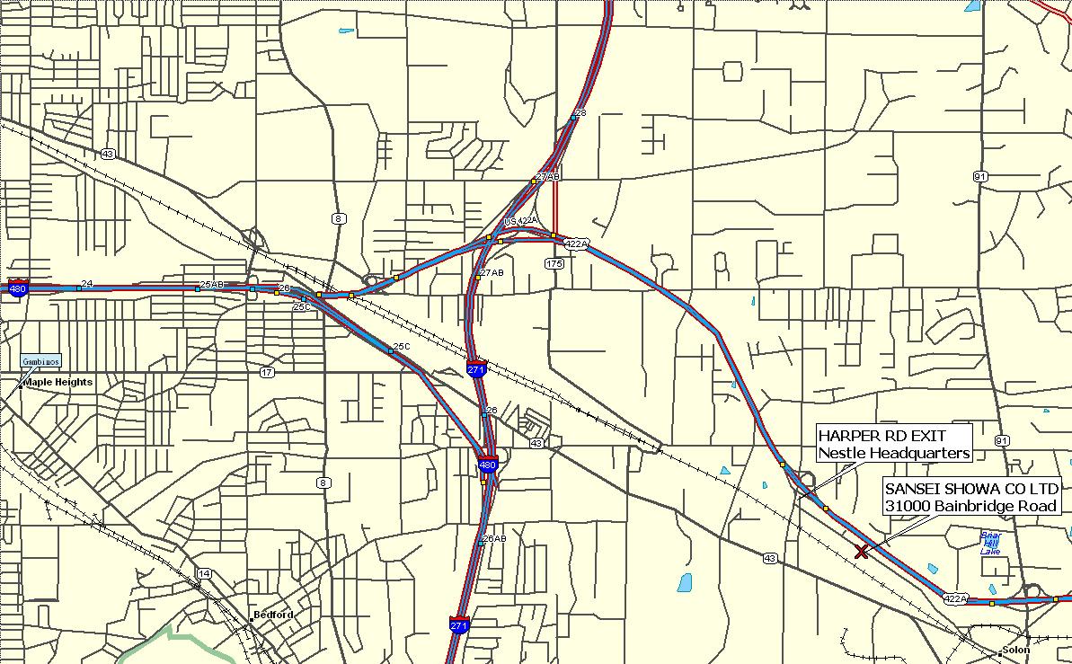 Road Map Bainbridge Ohio